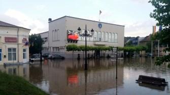 Orașul Cernavodă s-a confruntat iar cu inundații în urma ploii