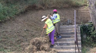 Angajații Primăriei și cei ai societății Polaris au făcut curățenie în oraș. FOTO Primăria Constanța