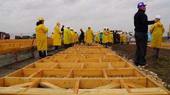 Ridicarea caselor Habitat for Humanity România la Cumpăna
