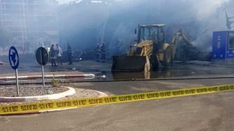 Clubul Bamboo a ars din temelie și urmează a fi demolat. FOTO amator
