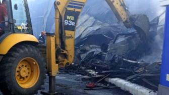 Clubul Bamboo a ars din temelie și urmează a fi demolat. FOTO ISU Dobrogea