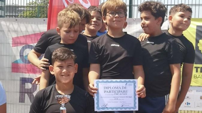 Echipa de Rugby U10 a CSO Ovidiu a reușit să obșină locul II. FOTO CSO Ovidiu