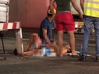 Unul dintre șoferi a ajuns înjunghiat la spital. FOTO E. C.