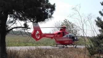 Elicopterul SMURD a intervenit la locul accidentului. FOTO CTnews.ro