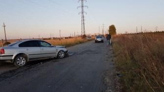 În urma accidentului, mașinile au fost grav avariate. FOTO CTnews.ro