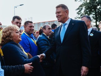 Klaus Iohannis a început campania electorală. FOTO PNL