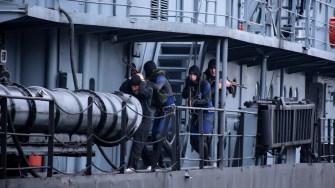 Scafandrii militari au făcut o demonstrație de ceea ce pot face în situații limită. FOTO SMFN