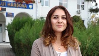 Ana Maria Geoglovan de la Primăria Hârșova. FOTO CTnews.ro