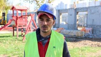 Șeful de șantier de la căminul cultural din Saraiu, Nicolae Andriana. FOTO Adrian Boioglu