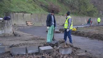 Lucrări în cartierul Columbia din Cernavodă. FOTO CTnews.ro