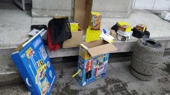 Petardele erau ascunse în cutii de jucării. FOTO Poliția de Frontieră