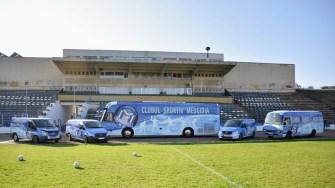 Clubul Sportiv Medgidia are propriile mijloace de transport achiziționate de Primăria Medgidia. FOTO CS Medgidia