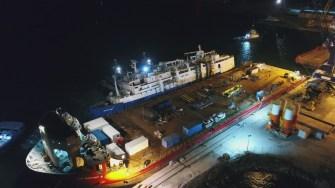 Nava Queen Hind a fost ranfluată și adusă în siguranță la cheu. FOTO GSP