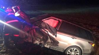 Autoturismul care a intrat pe contrasens și a provocat accidentul. FOTO CTnews.ro
