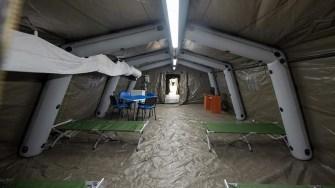 Spital militar mobil. FOTO MAPN