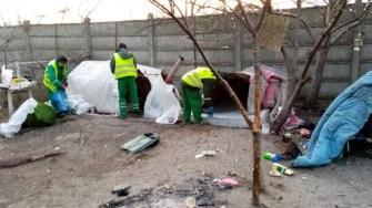Tabăra improvizată a fost dezafectată, iar zona igienizată. FOTO Polaris M Holding