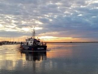 Revenierea in tara a navei maritime MAI 2114, din cadrul Garzii de Coasta FOTO Garda de Coasta
