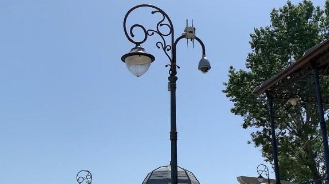 Camere de supraveghere și internet wi-fi gratuit pe faleza de la Cazinou. FOTO Primăria Constanța
