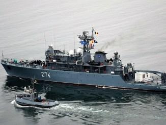 """Puitorul de mine și plase """"Viceamiral Constantin Bălescu"""" s-a întors din misiunea în Marea Mediterană. FOTO Fortele Navale"""