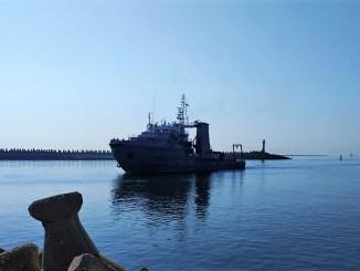 """Echipajul navei """"Alexandru Cătuneanu"""" a revenit acasă din Marea Ionică. FOTO SMFN"""