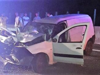 Accident rutier pe A2. FOTO IPJ Constanța
