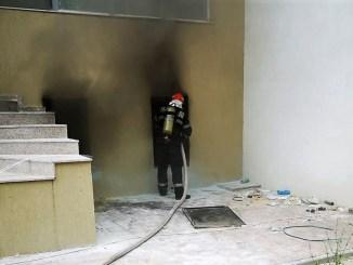 "Incendiu la subsolul hotelului Nautic din Mamaia Nord. FOTO ISU ""Dobrogea"""
