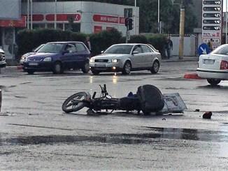 Accident cu un moped în Constanța. FOTO Florin Boboc