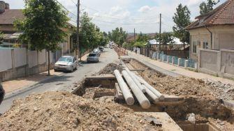 Lucrări la infrastructura din Cernavodă. FOTO Paul Alexe