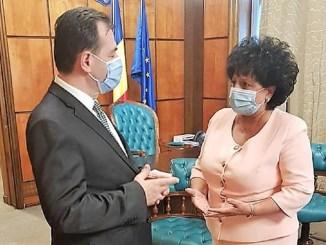 Mariana Gâju a discutat cu premierul Ludovic Orban despre lucrările la malul stâng al Canalului Dunăre-Marea Neagră