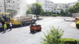 Lucrări de întreținere pentru străzi și parcări din Cernavodă. FOTO Paul Alexe