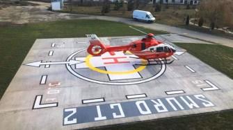 Heliportul Spitalului Orășenesc Hârșova. FOTO Primăria Hârșova