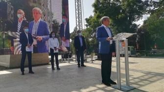 Dacian Cioloș, prezent la Constanța pentru susținerea candidaturii lui Stelian Ion la Primăria Constanța. FOTO Paul Alexe