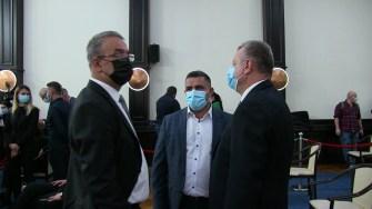 Vergil Chițac cu primarul de la Poarta Albă, Vasile Delicoti și Mircea Banias. FOTO CTnews.ro