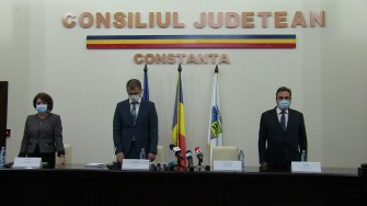 Ceremonia de învestire a președintelui Consiliului Județean Constanța, Mihai Lupu. FOTO CTnews.ro