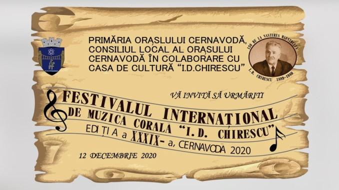 """Festivalul Internațional de Muzică Corală """"I. D. Chirescu"""", Cernavodă, 2020"""