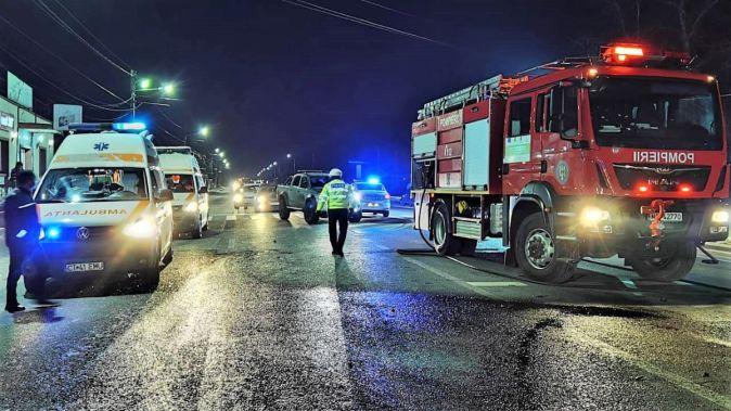 """Doi răniți, într-un accident rutier petrecut la intrare în Murfatlar. FOTO ISU """"Dobrogea"""""""
