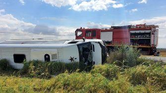 Patru răniți într-un accident rutier petrecut în Tariverde. FOTO ISU Constanța