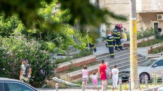 Intervenție a pompierilor constănțeni în zona Trocadero.