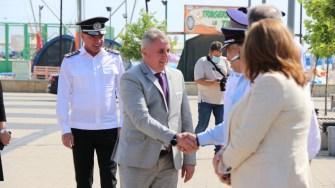 Ministrul Lucian Bode, în vizită pe litoral. FOTO Adrian Boioglu