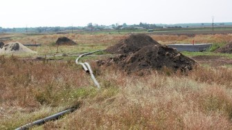 Lucrări de infrastructură în comuna Mihai Viteazu. FOTO Paul Alexe