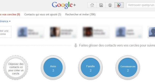 cercles google plus