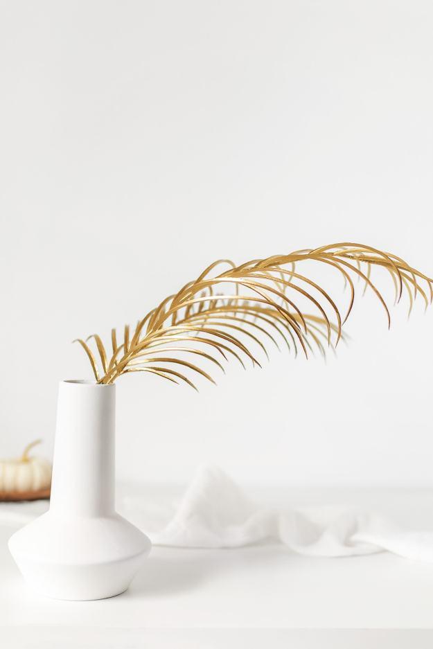 DIY Gold Frond