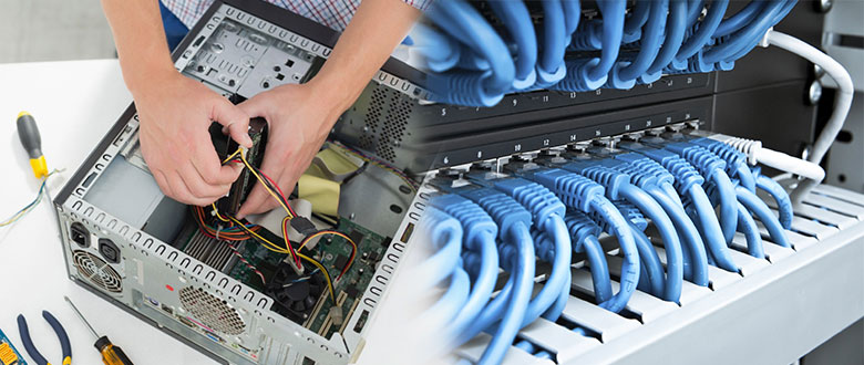Round Lake Beach Illinois On Site Computer & Printer Repairs, Networking, Voice & Data Cabling Contractors