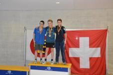 Le podium U15 - Johan 3ème