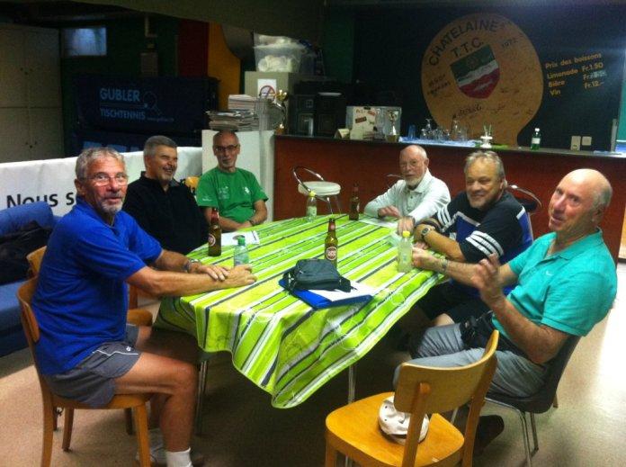 Club tennis de table de châtelaine groupe seniors du lundi après midi