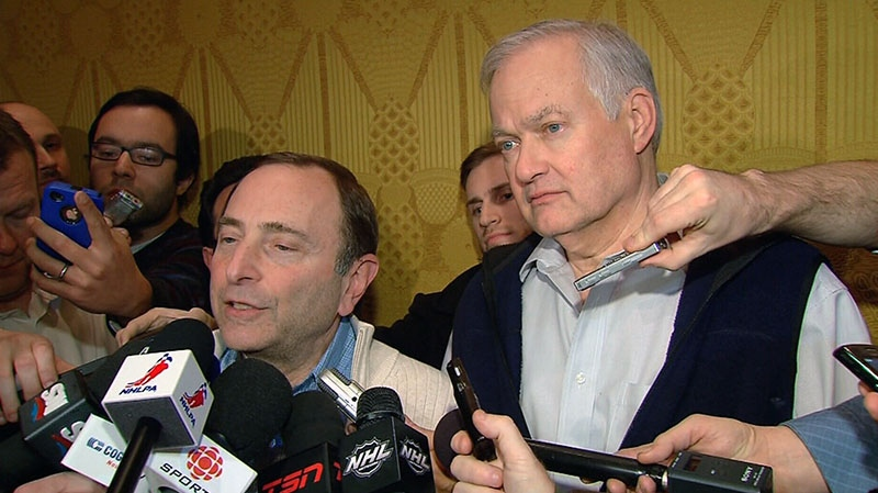 Gary Bettman Donald Fehr joint announcement end NHL Lockout CBA