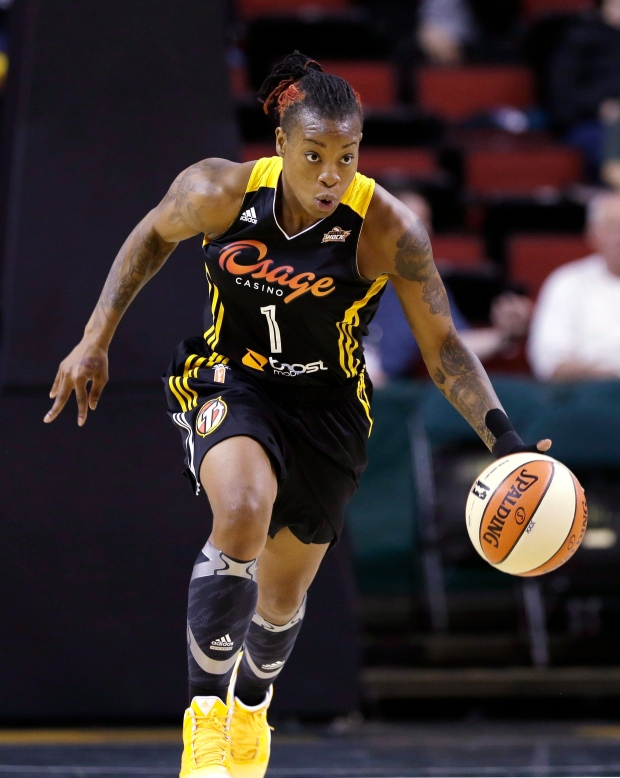 Riquna Williams of the WNBA's Tulsa Shock