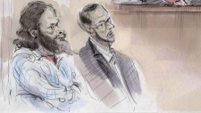 Chiheb Esseghaier, left, and Raed Jaser in court