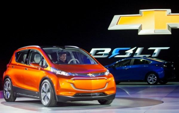 GM says Chevrolet Bolt electric car's range could surpass ...