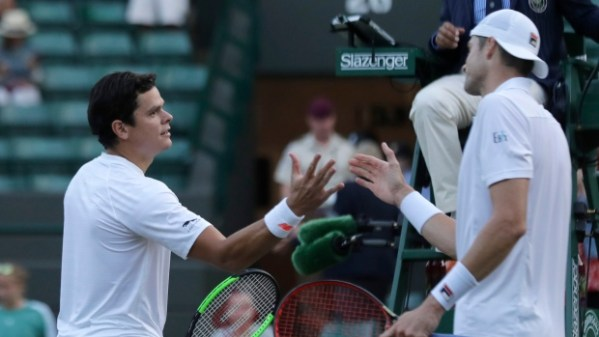 Raonic says he injured leg in Wimbledon quarterfinal loss ...